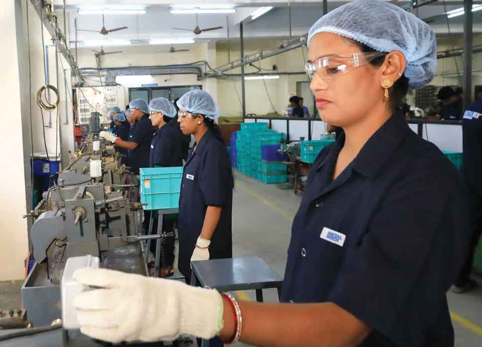 Safety of workers in cable gland manufacturing plant