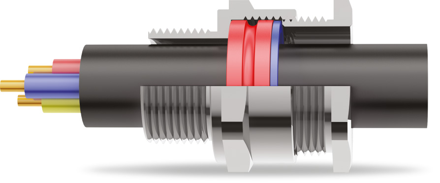 A2 Type Cable Gland 3D Diagram