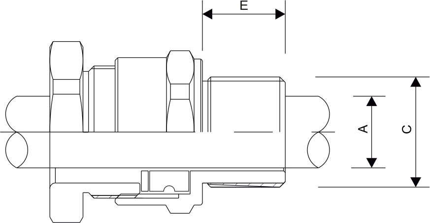 A2 Type Cable Gland Diagram