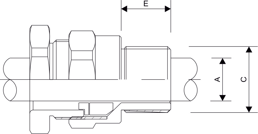 A2F Type Cable Gland Diagram