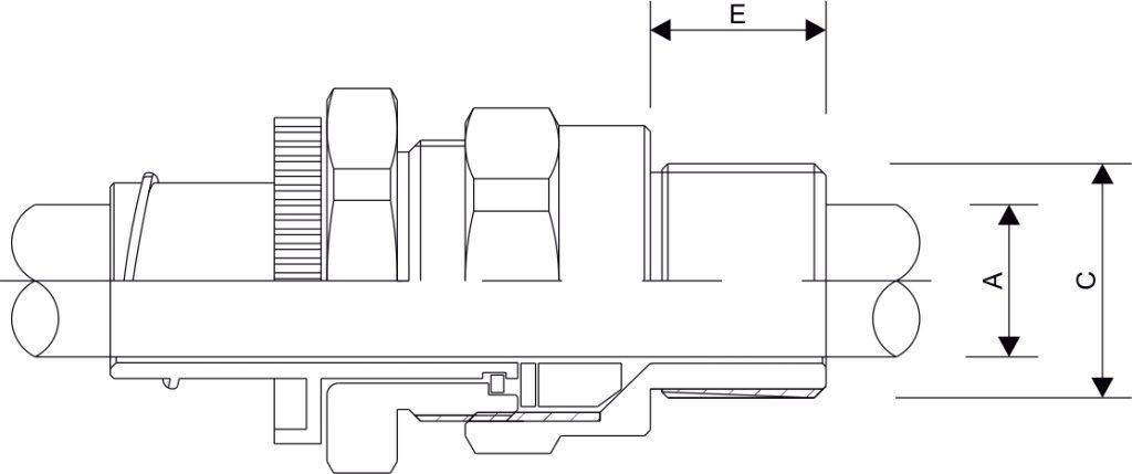 A2FCNF Cable Gland Diagram
