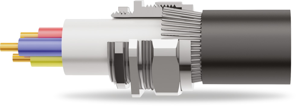 BW 2PT Armoured Cable Gland 3D Diagram