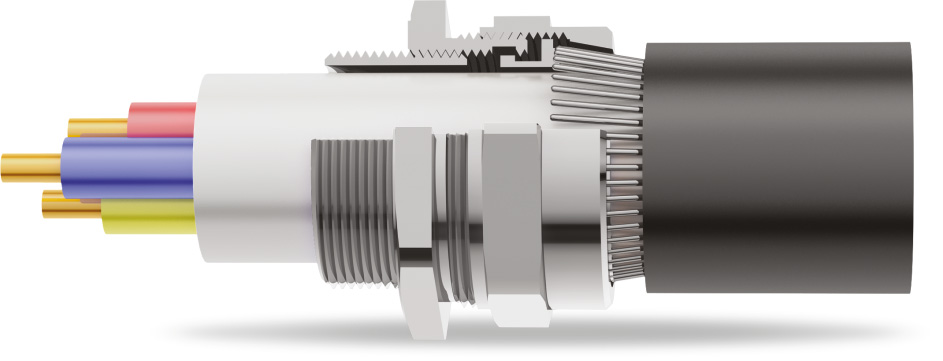 BWR Armoured Cable Gland 3D Diagram