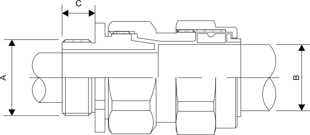 CW 3PT Single Cable Gland Diagram