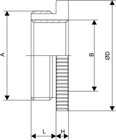 Reducer Light Knurling Diagram