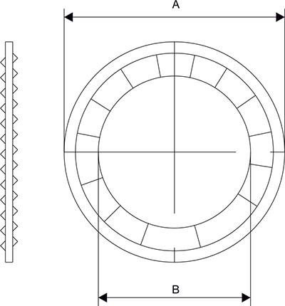 Serrated Washer Internal Diagram