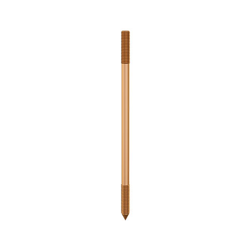 Solid Copper Earth Rods Externally Threaded Manufacturer